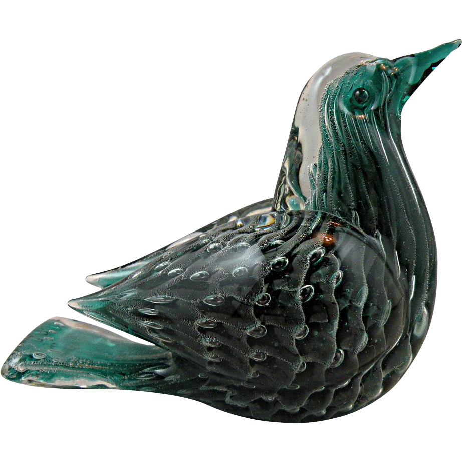 Barbini VAMSA Sfumato Song Bird made in Murano 1930s Reserved for Dianne