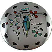 Zuni Inlay Bird of Prey Pendant by Randolph & Margie Ghahate