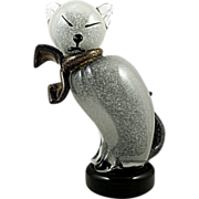 Murano Glass Siamese Cat by Barbini for Camer 1960s, Pulegoso Technique