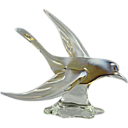 Magnificent Murano Glass Seagull Bird Sculpture made with Opalescent Glass