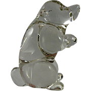 Murano Clear Glass Sitting Bear