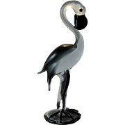 Large Murano Glass Flamingo by V Nason 14 inches tall
