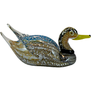 Formia Murano Glass Duck Bird signed Mian Giuliano