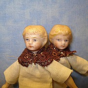 Pair of German Doll House Dolls