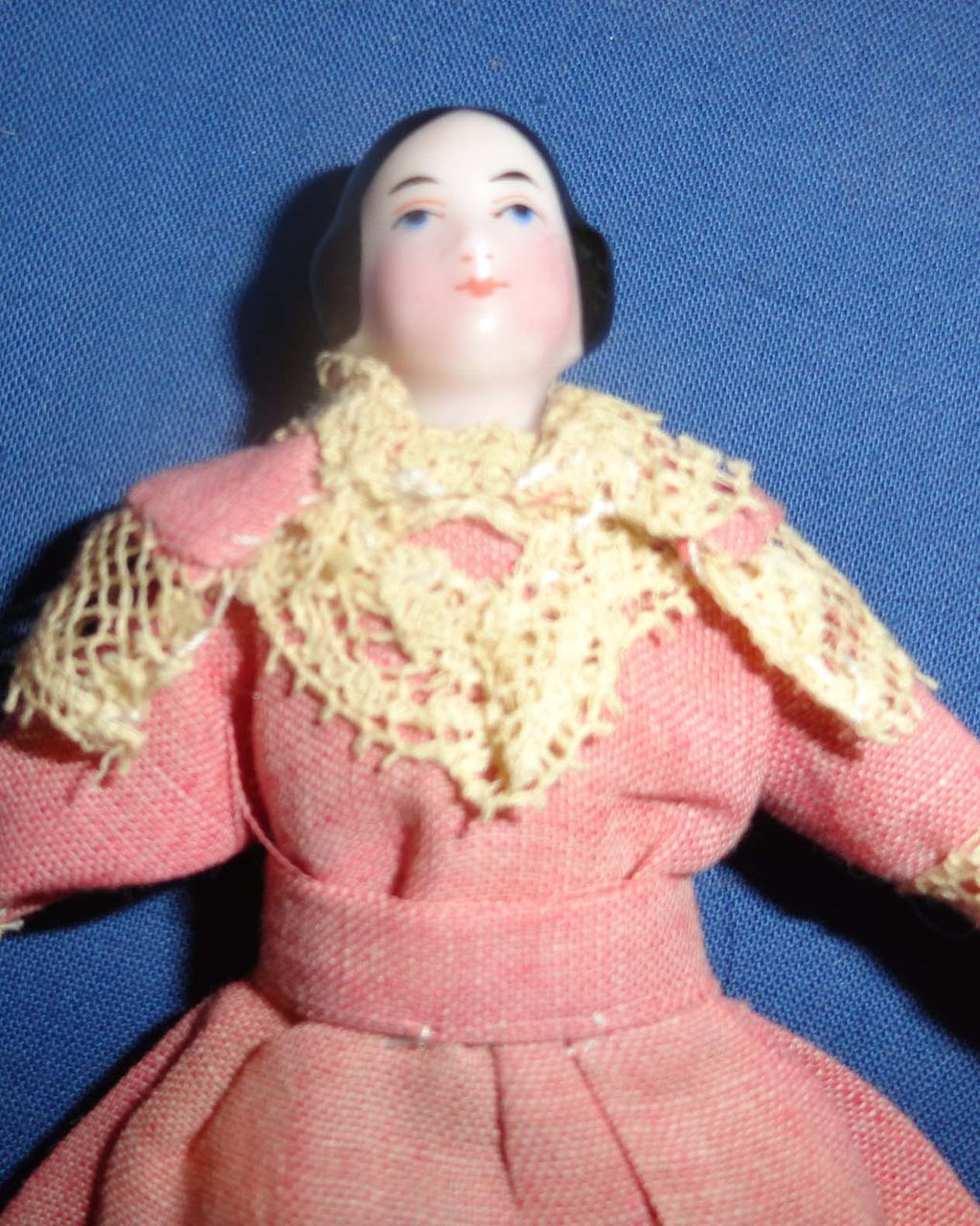 Early China Doll House Doll Pink tinted