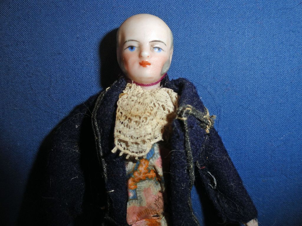 Larger German Doll House Man Bald