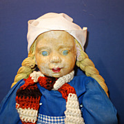 WPA Milwaukee Cloth Doll Dutch Girl