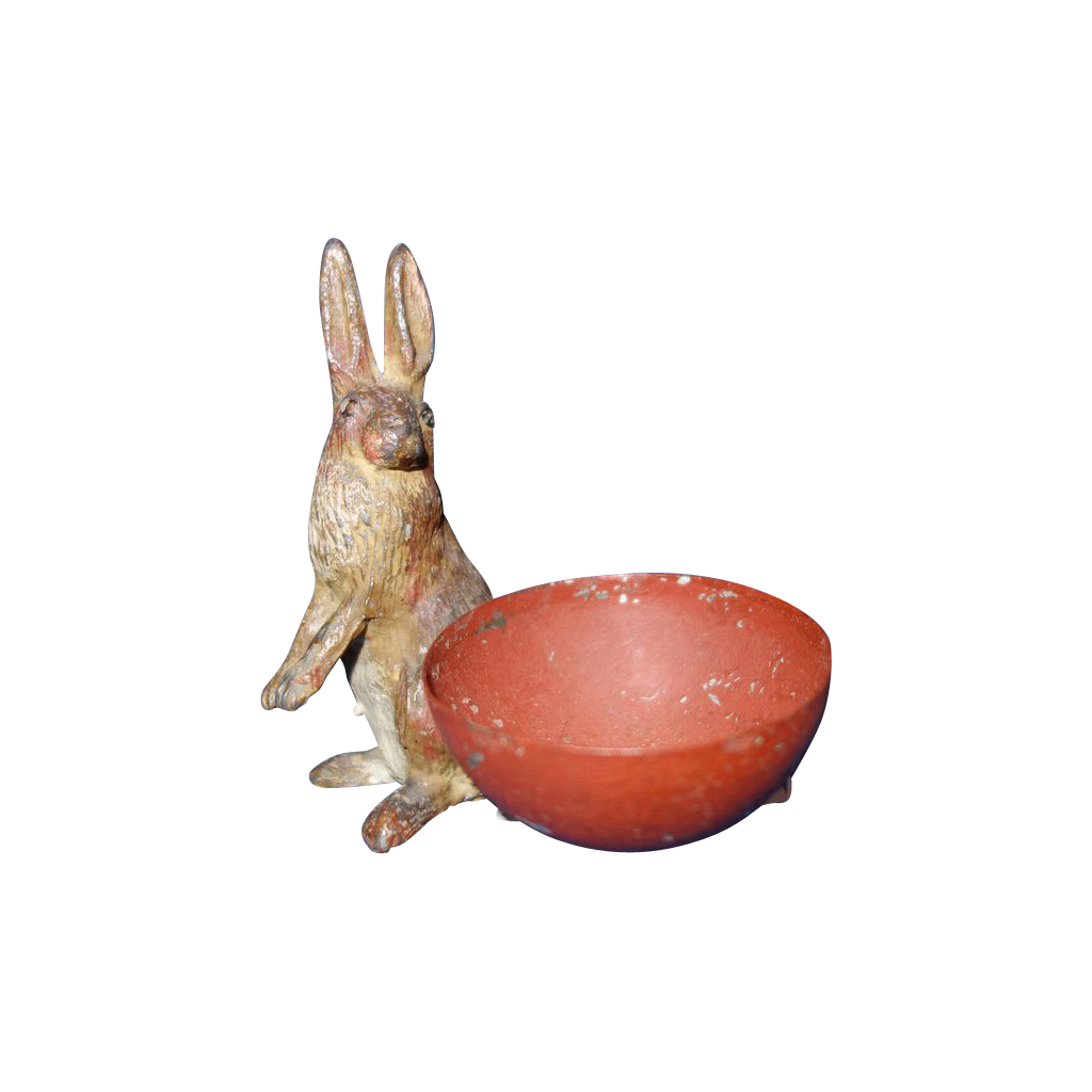 Rabbit and Egg Holder Metal