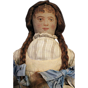 Outstanding American Folk Art Doll