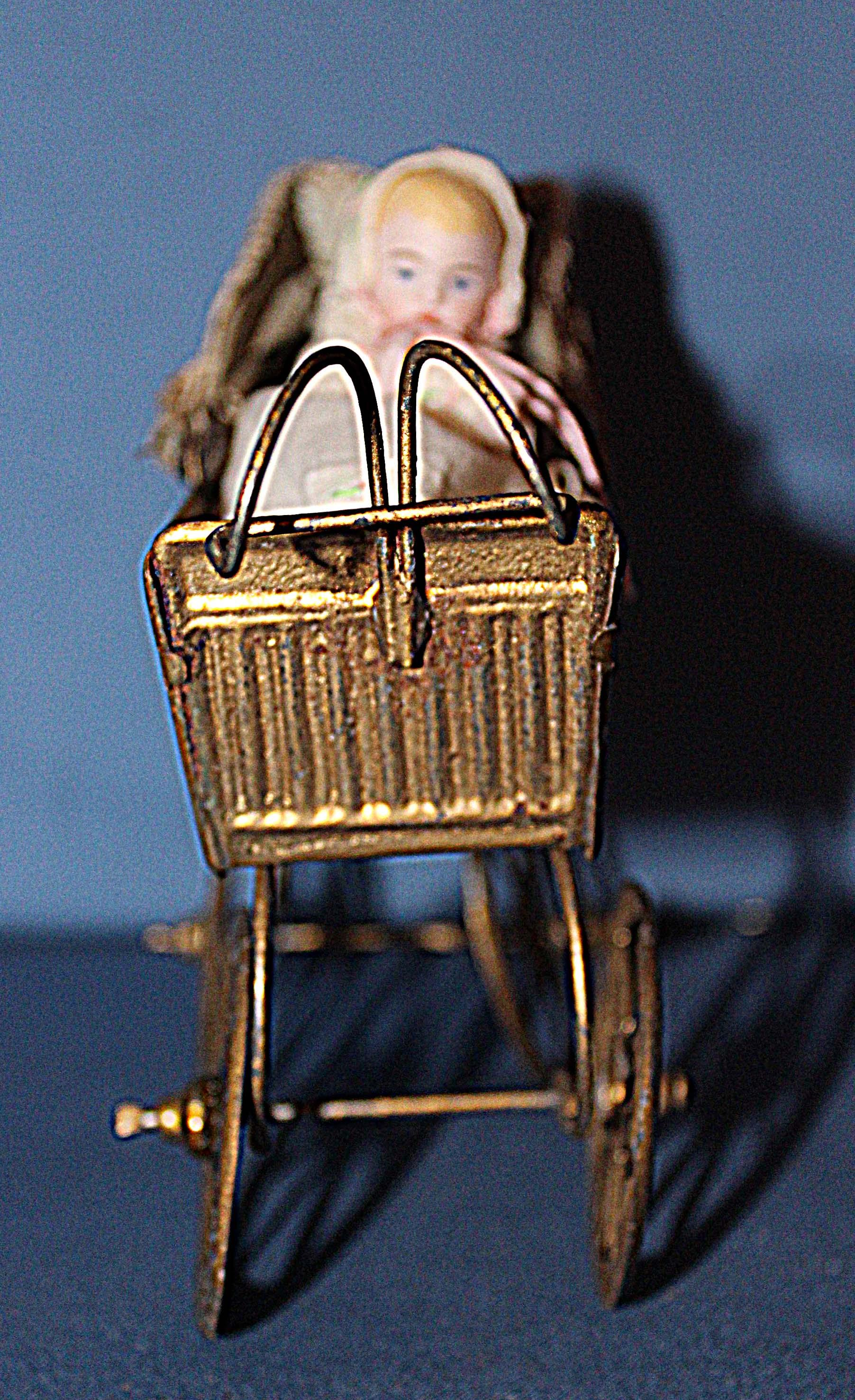Tin Doll Carriage And Baby Doll From Sarabernsteindolls On