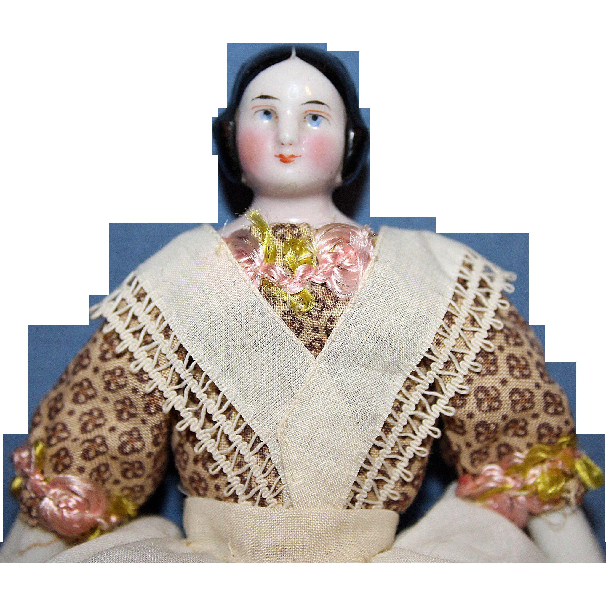 Small Covered Wagon China Doll