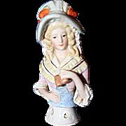 Bonnet Half Doll with Binoculars
