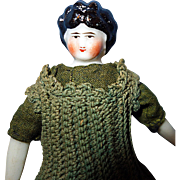 Tiny China Doll 1870 in crochet clothing