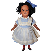 Black German Bisque Doll