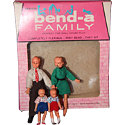 Bend-A Family Doll house set in box