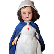 Painted Bisque Nurse Doll