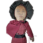 Cloth Folk Art Doll