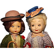Italian Felt Character Pair Dolls