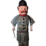 Policeman Early Paper Mache jointed mouth