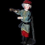 French Military Bugler mechanical doll