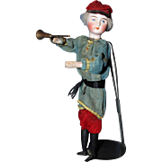 French Military Bugler mechanical doll