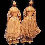 Twin Milliners Model dolls