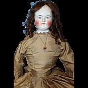 Large Beidermeier Bald China Doll