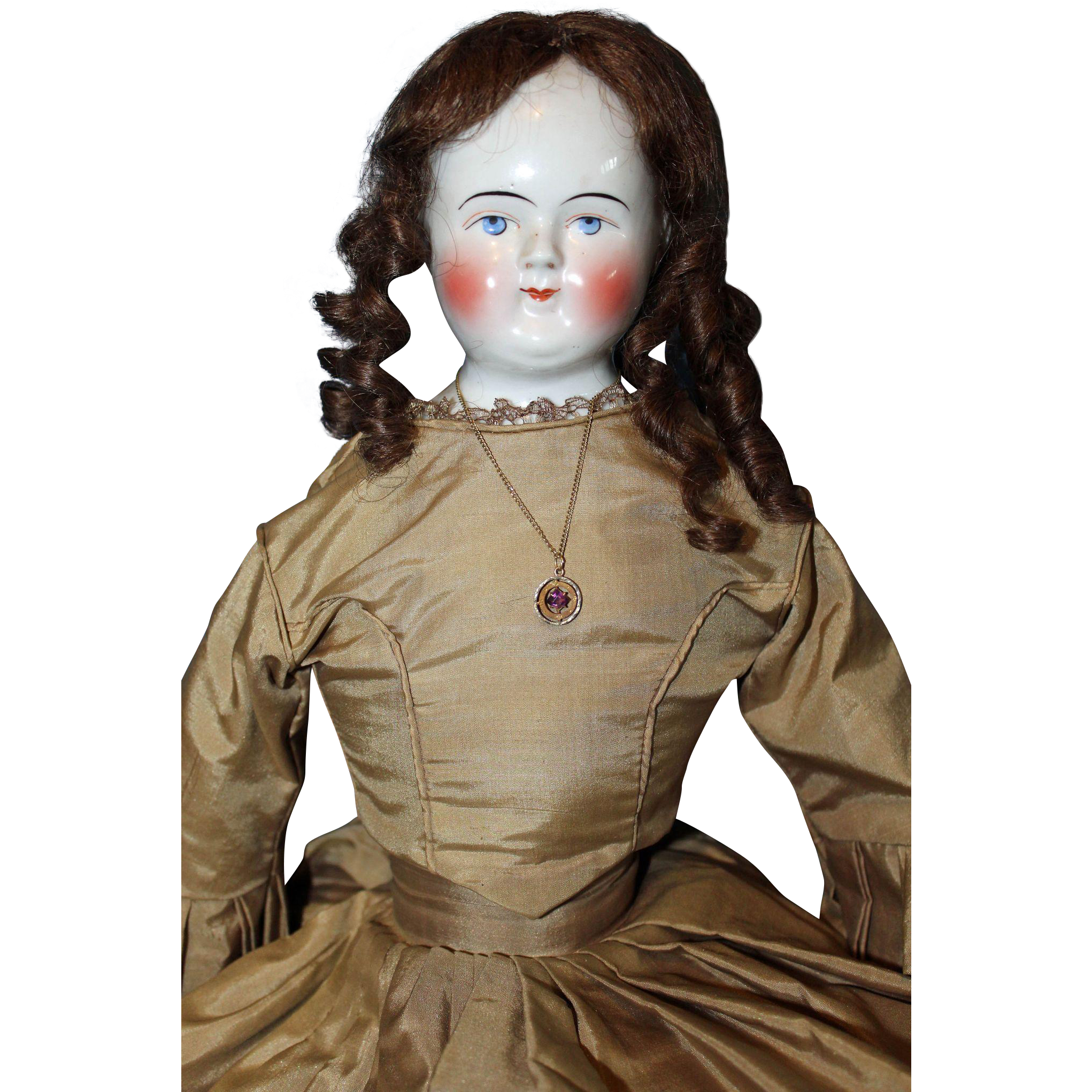 Large Beidermeier Bald China Doll