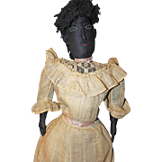 Large Black Folk Lady Doll