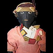 French Black Cloth Doll