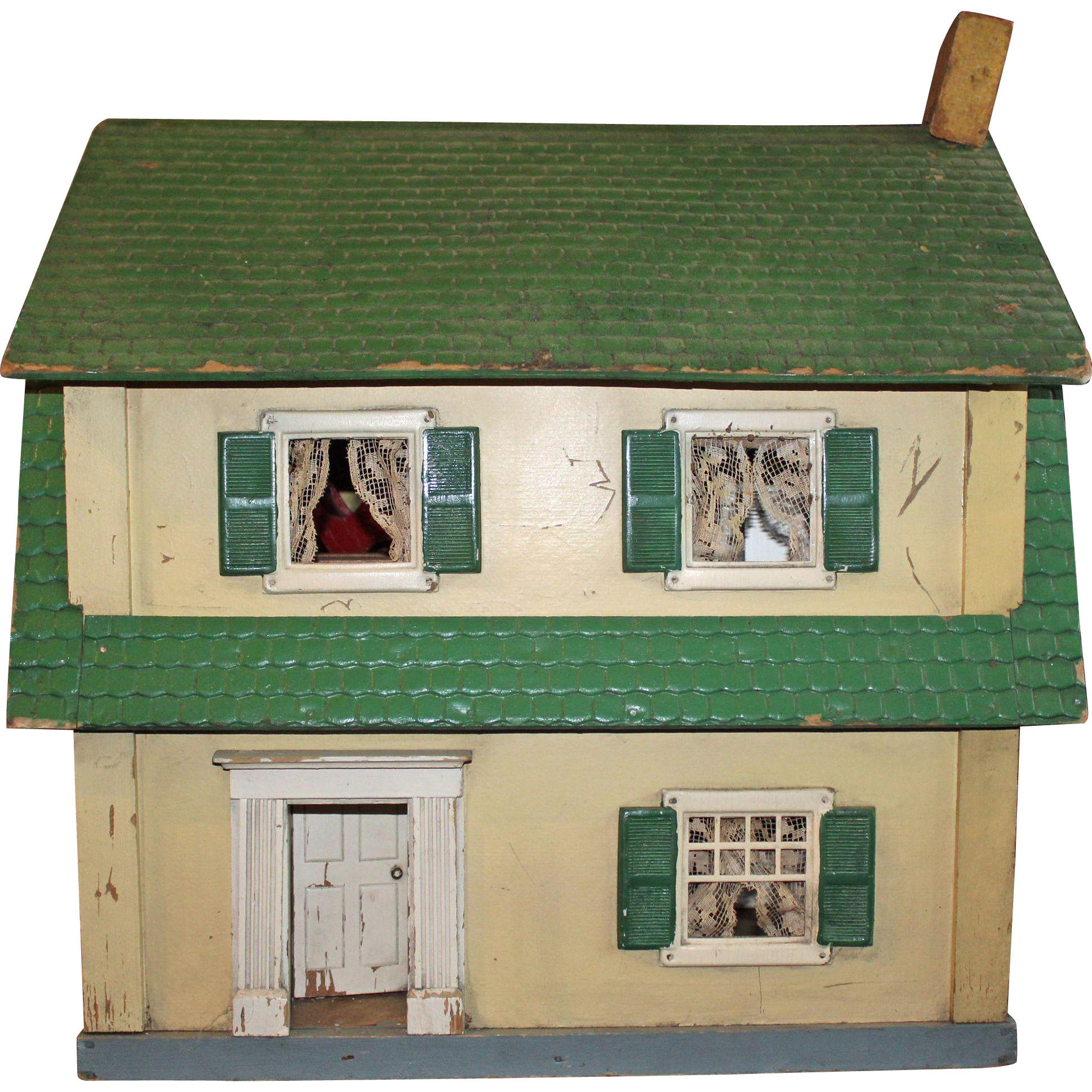 Large Schoenhut Doll House and Furniture