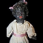 Black German Bisque  Doll