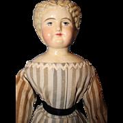 Blond Paper Mache doll