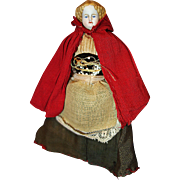 Red Riding Hood Bisque Doll