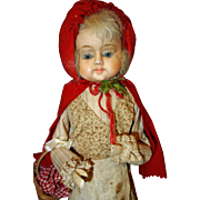 Paper Mache Doll Candy Container