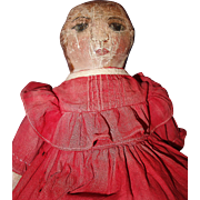 Petite Oil Painted Doll with Provenance