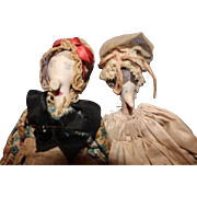 Unusual Clay Pipe Sewing Dolls