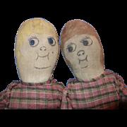 Early Cloth Twin Dolls