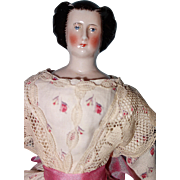 Early Pink Tinted China with Rarer Hairdo