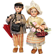 Candy Container Bisque Dolls