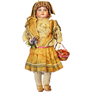 Rabbit Girl Bisque Candy Container