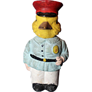 Chick in Uniform Candy Container