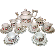 German Doll size Child's Tea Set