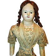 French Paper Mache Large doll