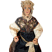 Early Swiss Wood Doll A/O