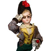 French Mignonette Mechanical Doll