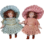 All Bisque Twin Dolls