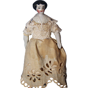 Tiny China Flat top Doll