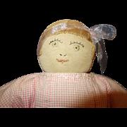 Folk Art Knit Doll