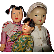 Amah, child and another doll